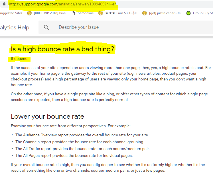 is bounce rate bad