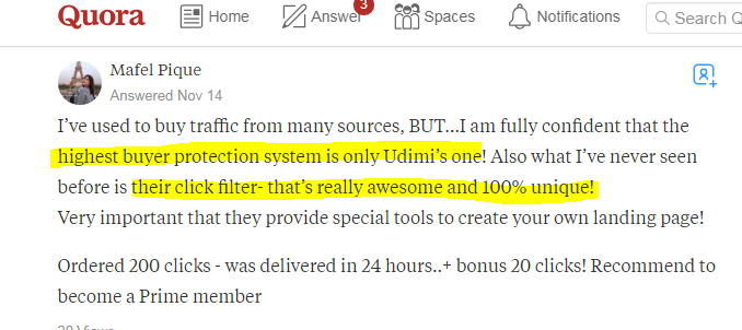 review on Udimi from a user