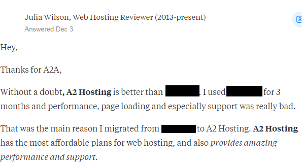 a2hosting review 2
