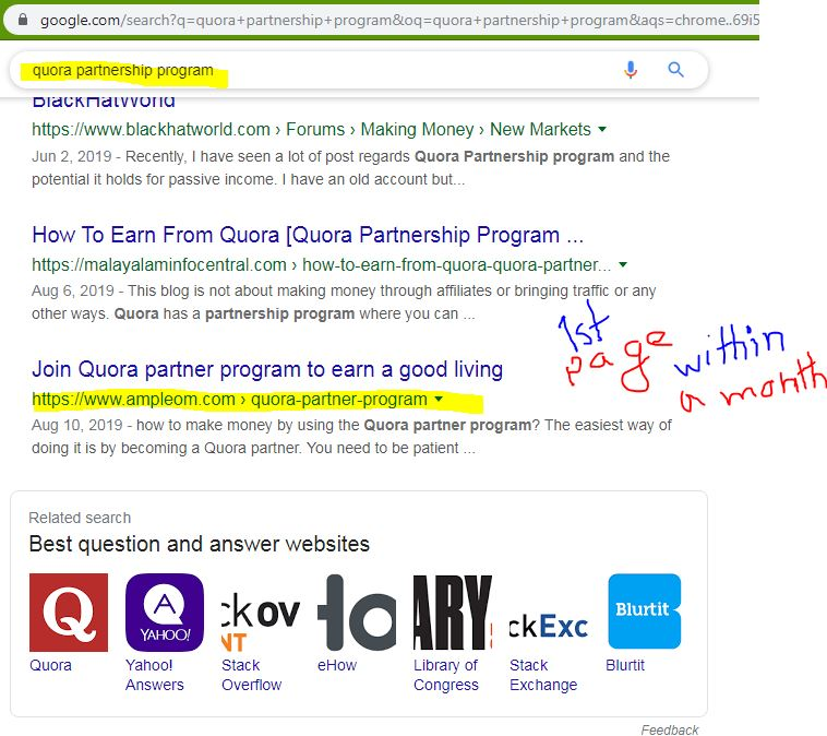 SEO ranking proof