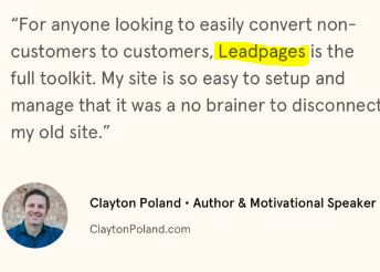 leadpages testimonial