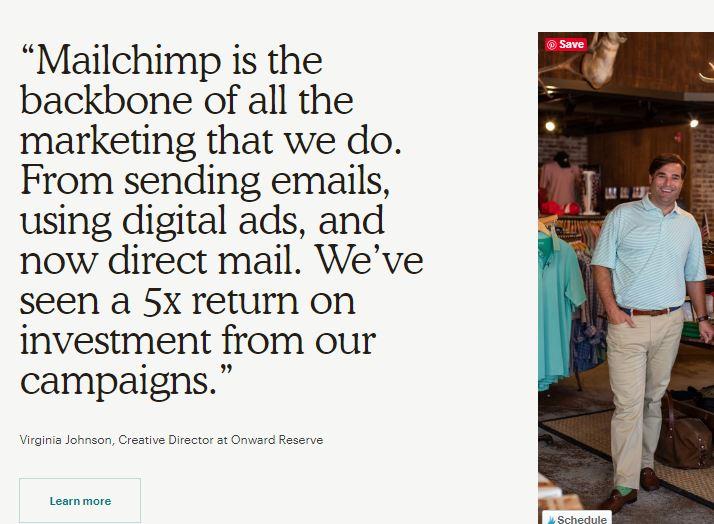 mailchimp testimonial
