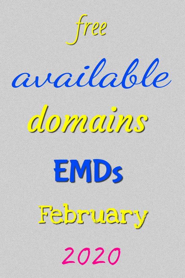 available emd domains february 2020